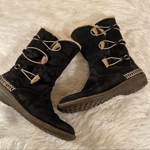 Ugg 11 Black Sheepskin Calf hi 5183